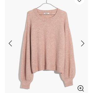 Madewell balloon sleeve rose sweater 3x nwt